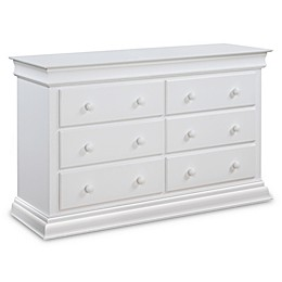 Bailey 6-Drawer Double Dresser in White