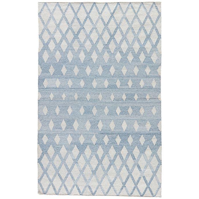 Alternate image 1 for Jaipur Winipeg Indoor/Outdoor 8-Foot x 10-Foot Area Rug in Blue/Cream
