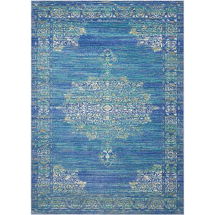 Nourison Cambria Medallion Rug In Teal