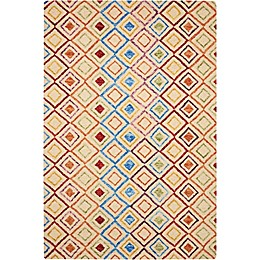 Nourison Vivid Diamond Rug in Ivory