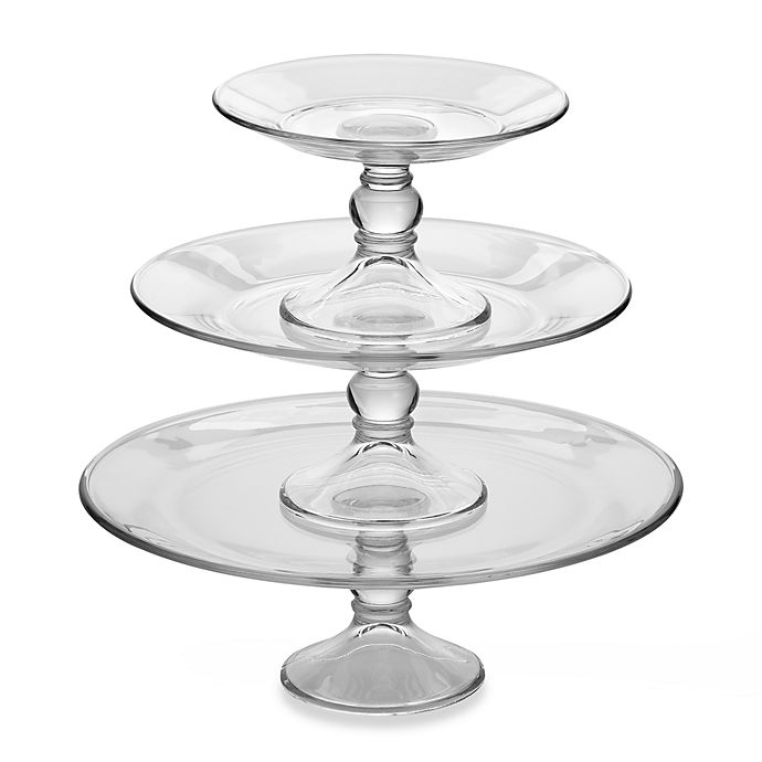 Alternate image 1 for Dailyware™ 3-Piece Footed Platter Set