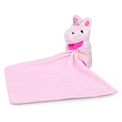 Waddle Unicorn Plush Lovie Animal with Blanket in Pink