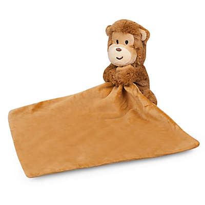 Waddle Monkey Plush Lovie Animal with Blanket in Brown