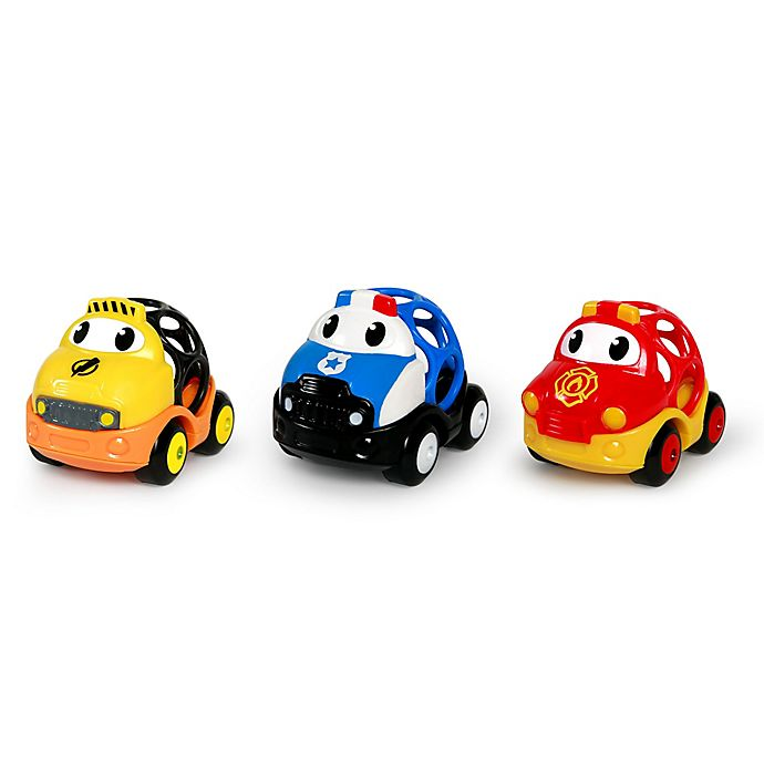 Alternate image 1 for Oball™ Go Grippers™ 3-Pack Emergency Cars in Yellow