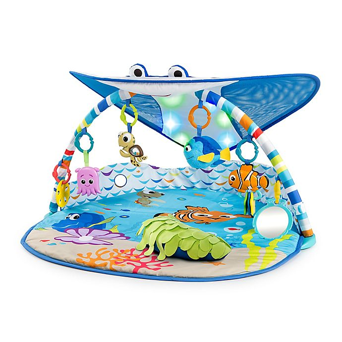 Alternate image 1 for Disney Baby® Mr. Ray Ocean Lights & Music Gym