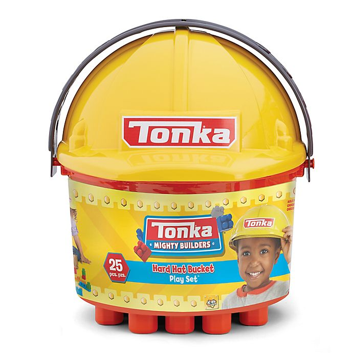 Alternate image 1 for Tonka® 25-Piece Mighty Builders Hard Hat Bucket Play Set