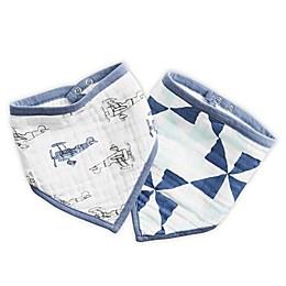 aden® by aden + anais® 2-Pack Dapper Bandana Bibs in Blue