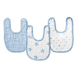 aden® by aden + anais® Muslin Snap Bibs in Blue/White
