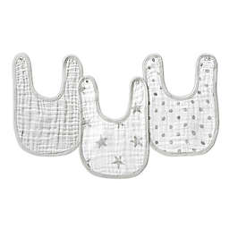 aden® by aden + anais® Muslin Snap Bibs in Grey