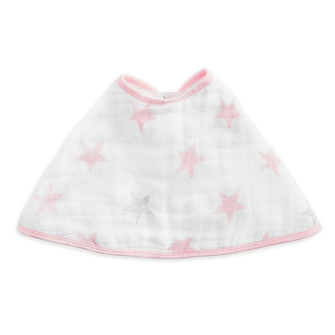 Alternate image 1 for aden® by aden + anais® Muslin Burpy Bib Pink/White