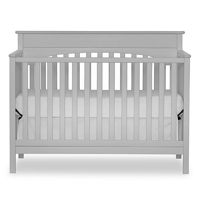 Alternate image 1 for Harley 4-in-1 Lifetime Convertible Crib in Grey