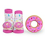 Waddle Size 0-12M 2-Piece Donut Teether and Rattle Sock Set