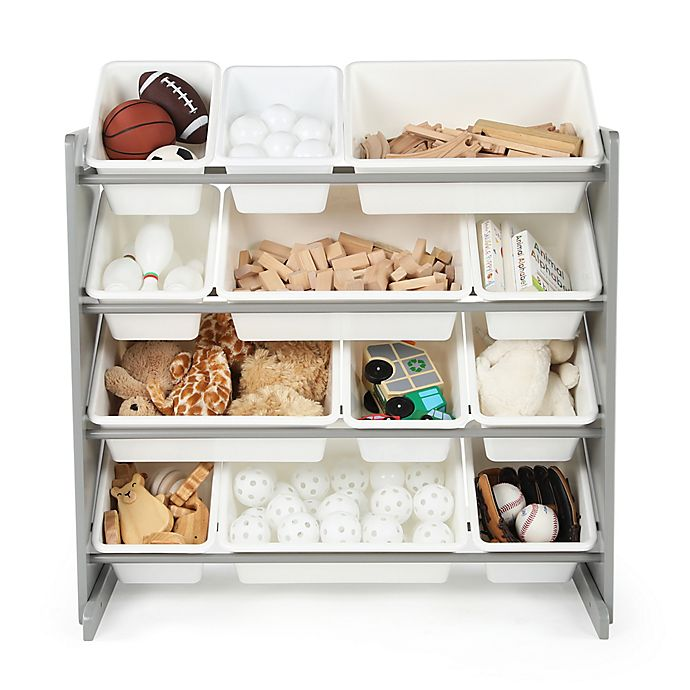 Alternate image 1 for Tot Tutors Toy Organizer in Grey/White