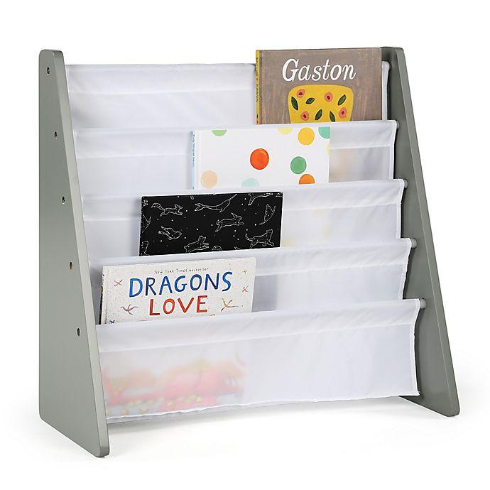 Alternate image 1 for Tot Tutors Child's 4-Pocket  Book Rack in Grey/White