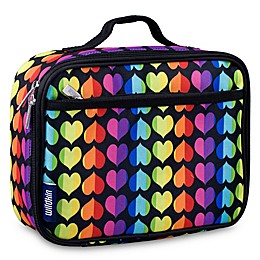 Wildkin Rainbow Hearts Lunch Box in Black