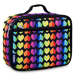Wildkin Rainbow Hearts Lunch Box in Black