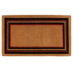 Home & More Esquire Door Mat in Black/Red