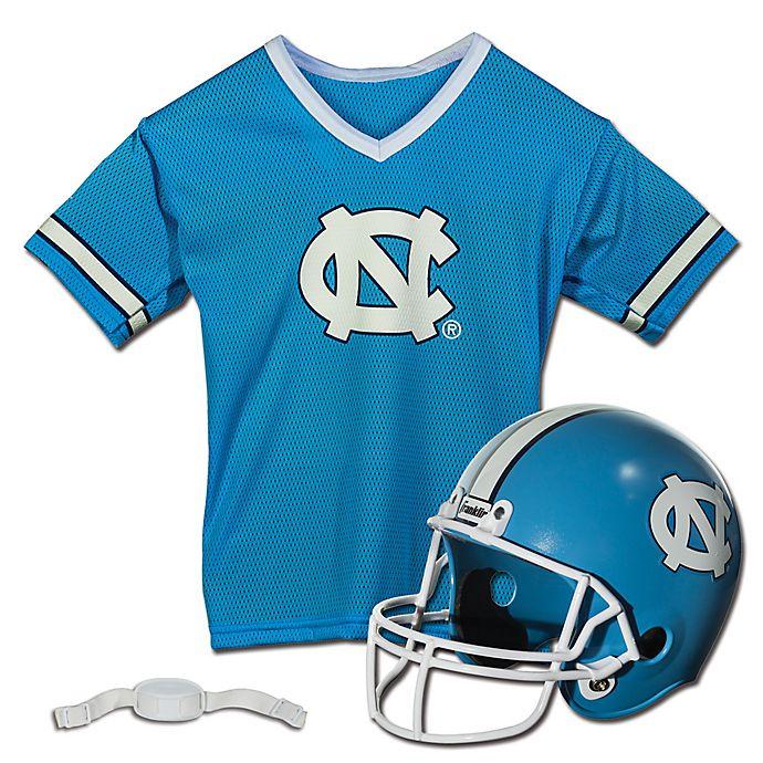 Alternate image 1 for University of North Carolina Kids Helmet/Jersey Set