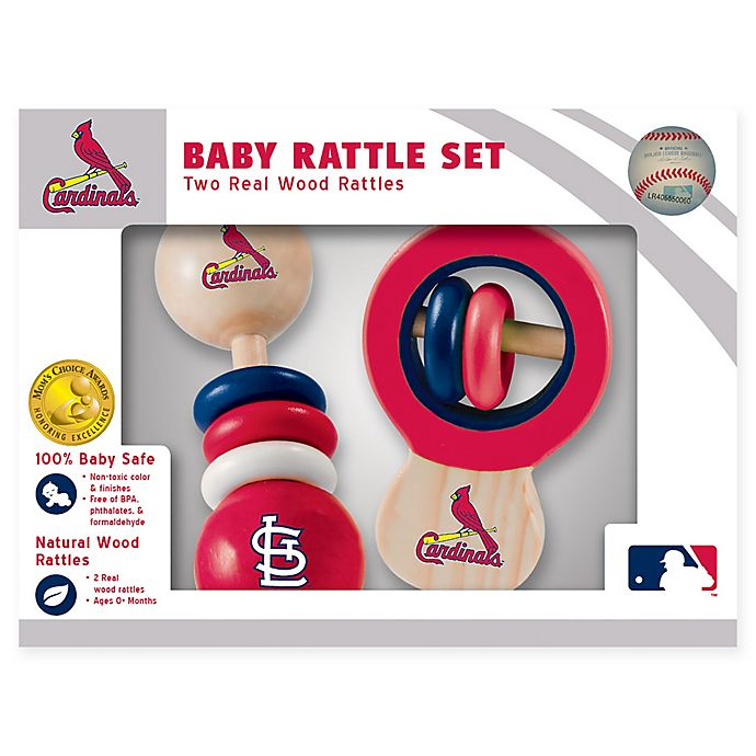 Alternate image 1 for MLB St. Louis Cardinals Rattles (Set of 2)