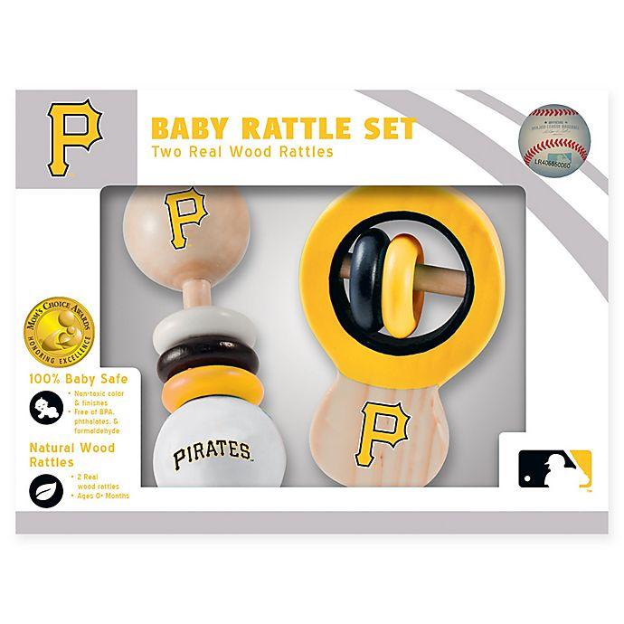 Alternate image 1 for MLB Pittsburgh Pirates Rattles (Set of 2)