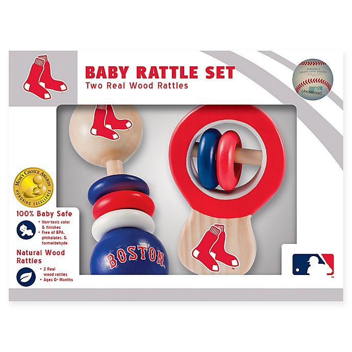 Alternate image 1 for MLB Boston Red Sox Rattles (Set of 2)