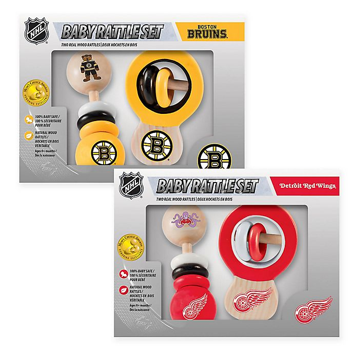Alternate image 1 for NHL Rattles (Set of 2) Collection