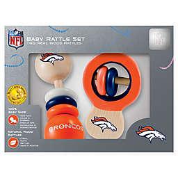NFL Denver Broncos Baby Rattles (Set of 2)