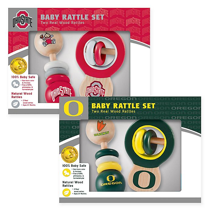 Alternate image 1 for Collegiate Rattles (Set of 2) Collection