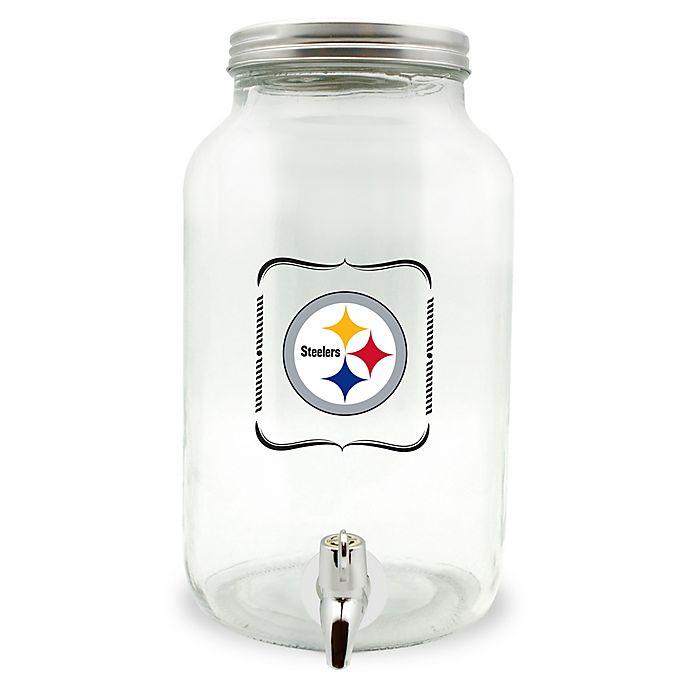 Alternate image 1 for NFL Pittsburgh Steelers 5-Liter Glass Drink Dispenser