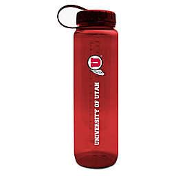 University of Utah 36 oz. Clear Plastic Water Bottle