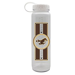 University of Wyoming 36 oz. Clear Plastic Water Bottle