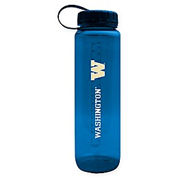 University of Washington 36 oz.Clear Plastic Water Bottle