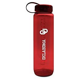University of Oklahoma 36 oz. Clear Plastic Water Bottle