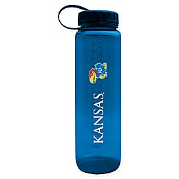 University of Kansas 36 oz. Clear Plastic Water Bottle