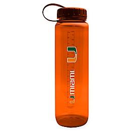 University of Miami 36 oz. Clear Plastic Water Bottle