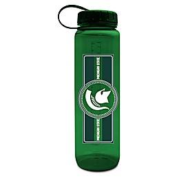 Michigan State University 36 oz. Clear Plastic Water Bottle