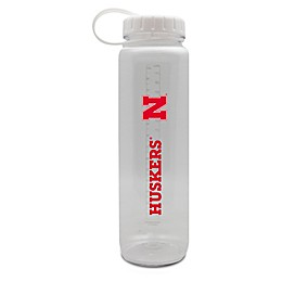 University of Nebraska 36 oz. Clear Plastic Water Bottle