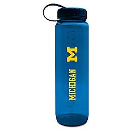 University of Michigan 36 oz. Clear Plastic Water Bottle