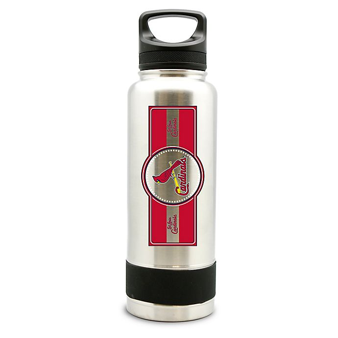 Alternate image 1 for MLB St. Louis Cardinals 34 oz. Thermo Double-Wall Stainless Steel Water Bottle