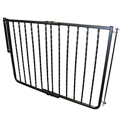 Cardinal Gates Wrought Iron Décor Gate in Black