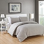 Chic Home Maritoni 7-Piece Reversible Queen Comforter Set in Silver