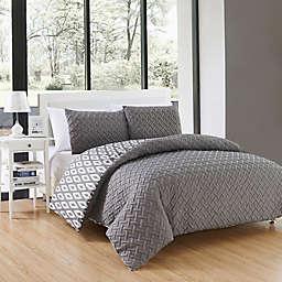 Chic Home Maritoni 7-Piece Reversible King Comforter Set in Grey