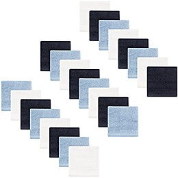 Hudson Baby® 24-Pack Woven Washcloths in Blue