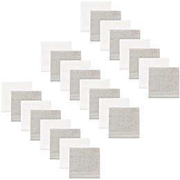 Hudson Baby® 24-Pack Woven Washcloths in Grey