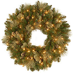 National Tree Company Pre-Lit LED Carolina Pine Wreath