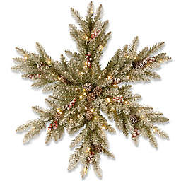 National Tree Company Pre-Lit Snowy Dunhill Fir Snowflake