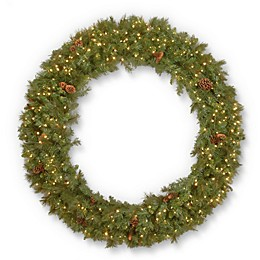 National Tree Company® 60-Inch Garwood Spruce Wreath with White LED Lights