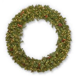 national tree company 60 inch garwood spruce wreath with white led lights
