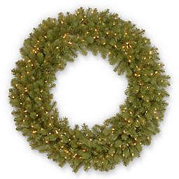National Tree Company 48-Inch Pre-Lit Downswept Douglas Fir Wreath
