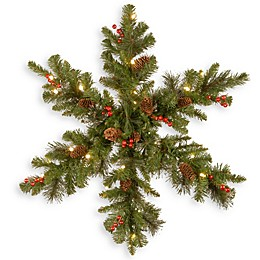 National Tree Company® 32-Inch Pre-Lit LED Crestwood Spruce Snowflake